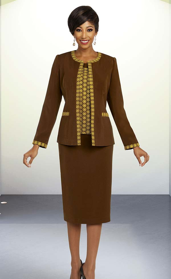 Ben Marc Executive 11830 Womens Skirt Suit With Intricate Triim Design