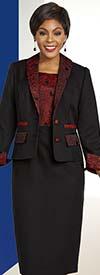 Ben Marc Executive 11834 Shawl Lapel Jacket & Dress Suit With Brocade Style Trim