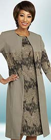 Ben Marc Executive 11839 Printed Dress Suit With Alternating Solid & Pattern Design Duster Jacket