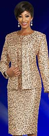 Ben Marc Executive 11841 Jewel Neckline Dress & Jacket Set With Intricate Pattern Design