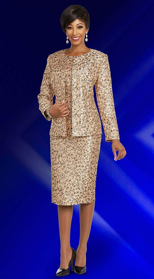 Ben Marc Executive 11841 Jewel Neckline Dress & Jacket Set With Intricate Pattern Design