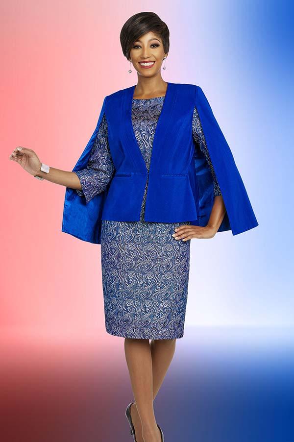 Ben Marc Executive 11842 Womens Dress & Cape Style Jacket Set