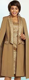 Ben Marc Executive 11843 Business Dress & Long Cape Style Jacket Set