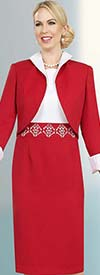 Ben Marc Executive 11564 Ladies Dress & Jacket Set With Stand-Up Collar