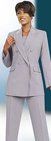 Ben Marc Executive 11573 Womens Double Breasted Pant Suit For Business