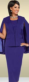 Ben Marc Executive 11716 Womens Suit With Cape Style Jacket