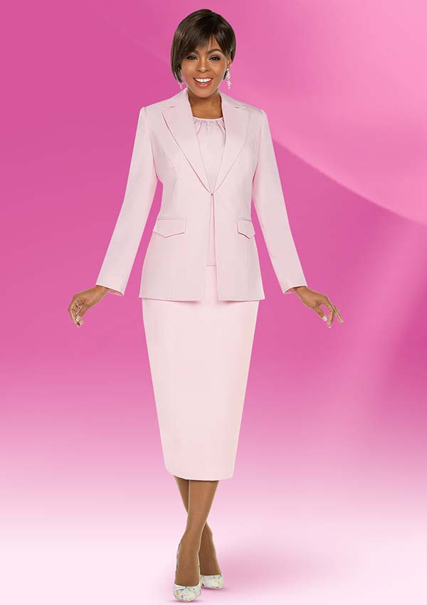 Ben Marc Executive 11757 Womens Business Skirt Suit With Notch Lapels