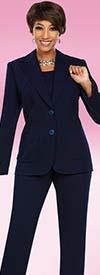 Ben Marc Executive 11765 Womens Business Pant Suit With Notch Lapels
