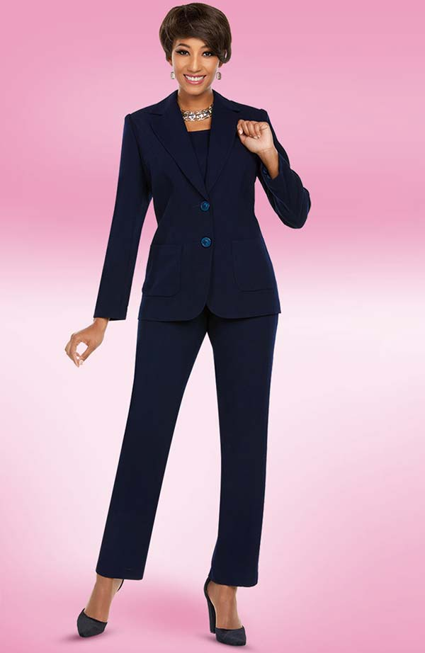 Ben Marc Executive 11765 Womens Business Pant Suit With Notch Lapels
