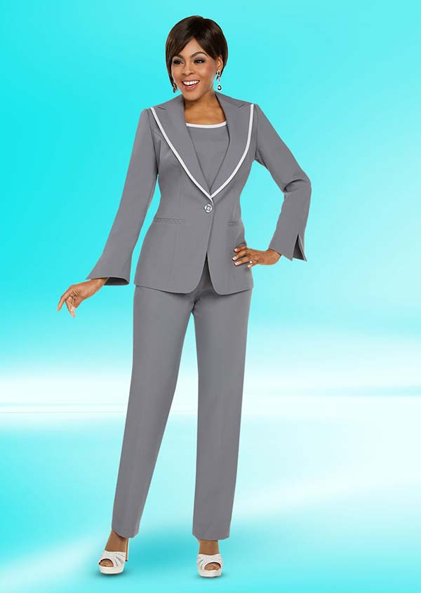 Ben Marc Executive 11766 Womens Pant Suit With Peak Lapel Jacket