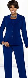 Ben Marc Executive 11770 Basic Womens Pant Suit With Notch Lapels