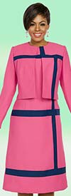 Ben Marc Executive 11781 Ladies Career Dress Suit With Stripes