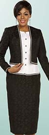Ben Marc Executive 11785 Business Skirt Suit Suit With Trimmed Jacket