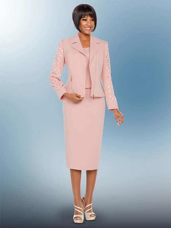 Ben Marc Executive 11786 Business Skirt Suit Suit With Cut Out Design Jacket