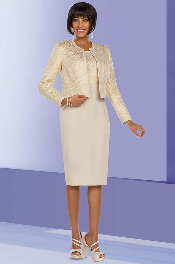 Ben Marc Executive 11788 Dress Set With Brocade Style Bodice & Jacket