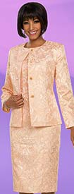 Ben Marc Executive 11791 Dress Set With Brocade Style Design