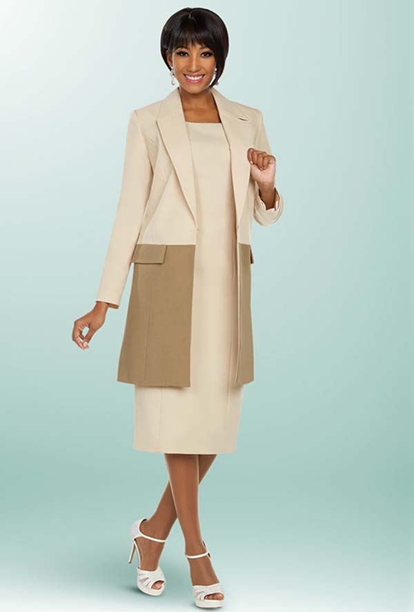 Ben Marc Executive 11800 Two Tone Dress Suit With Long Notch Lapel Jacket