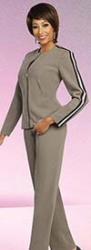 Ben Marc Executive 11816 Dress & Pant Wardrober Suit Set With Striped Accents