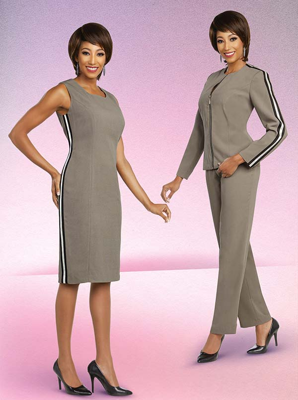 Ben Marc Executive 11816 Dress & Pant Wardrober Suit Set With Striped Accents