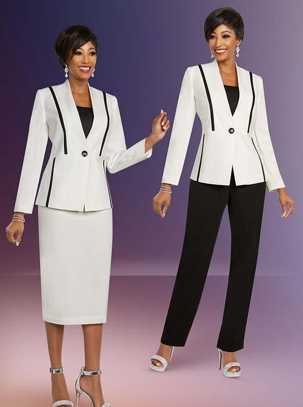 Ben Marc Executive 11819 Womens Wardrober Suit Set With Contrasting Pants & Matching Skirt