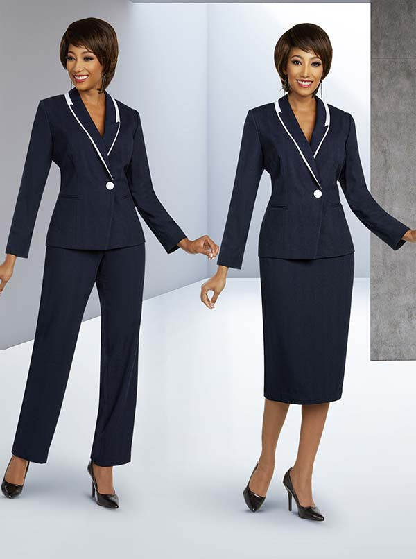 Ben Marc Executive 11821 Womens Weekender Suit Set With Accented Shawl Lapel Jacket