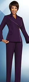 Ben Marc Executive 11824 Professional Womens Wardrober Suit Set With Wide Notch Lapel Zipper Jacket