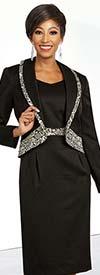 Ben Marc Executive 11832 Dress Suit With Patterned Trim Shawl Lapel Jacket