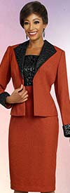 Ben Marc Executive 11833 Diamond Lapel Jacket & Dress Suit With Brocade Style Trim