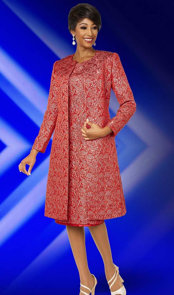 Ben Marc Executive 11846 Print Pattern Dress & Matching Duster Style Jacket Set