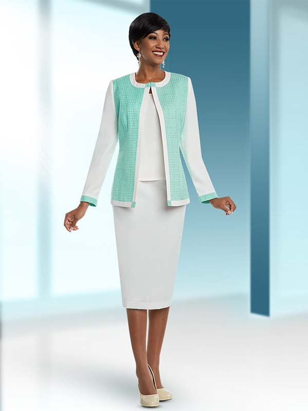 Ben Marc Executive 11668 Two Tone Business Skirt Suit