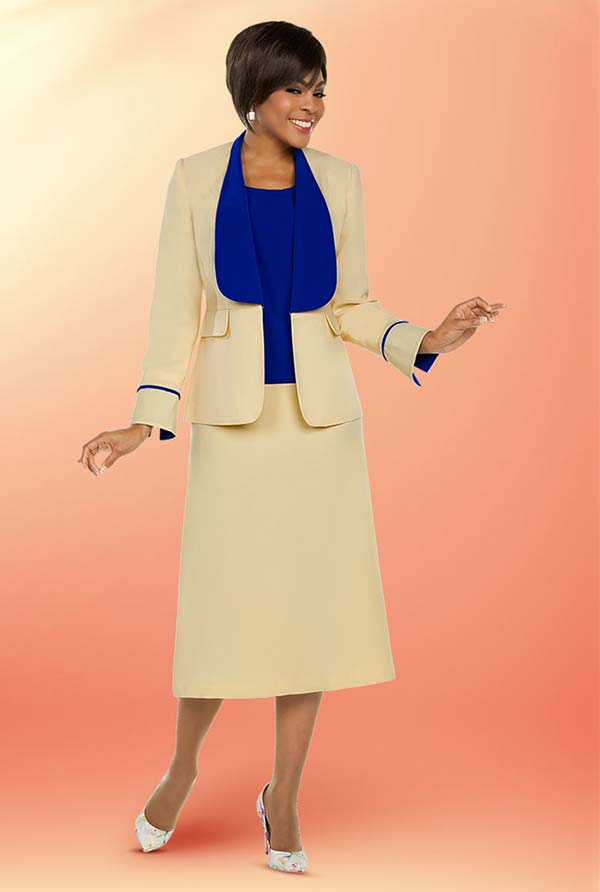 Ben Marc Executive 11753 Womens Business Skirt Suit With Wide Lapels