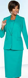 Ben Marc Executive 11759 Womens Basic Business Skirt Suit With Notch Lapels
