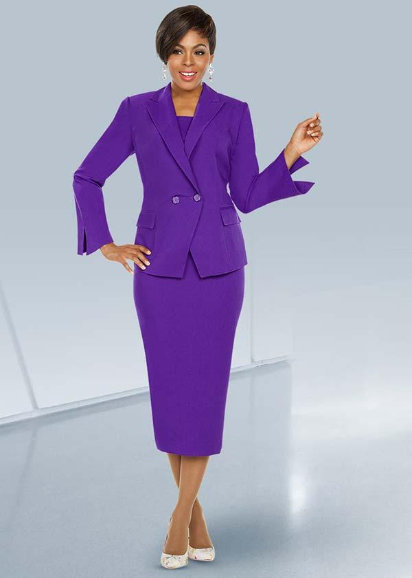 Ben Marc Executive 11760 Business Skirt Suit With Notch Lapel Wrap Jacket