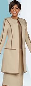 Ben Marc Executive 11763 Womens Business Skirt Suit With Long Jacket