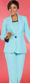 Clearance Ben Marc Executive 11767 Womens Basic Pant Suit With Notch Lapel Jacket