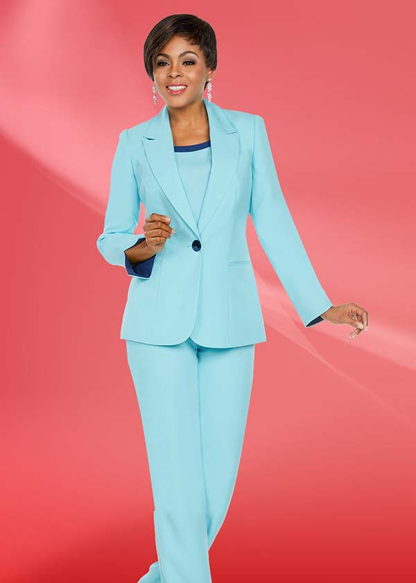 Ben Marc Executive 11767 Womens Basic Pant Suit With Notch Lapel Jacket