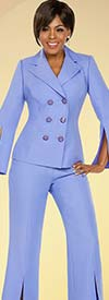 Ben Marc Executive 11771 Ladies Double Breasted Pant Suit With Split Cuffs