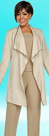 Ben Marc Executive 11772 Pant Suit With Wide Chelsea Lapel Jacket
