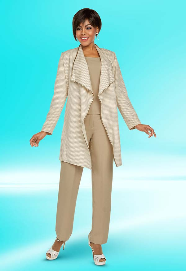 Ben Marc Executive 11772 Pant Suit With Wide Chelsea Lapel Jacket