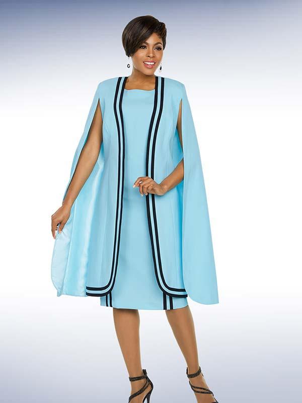 Ben Marc Executive 11775 Stripe Accented Dress Suit With Cape Jacket
