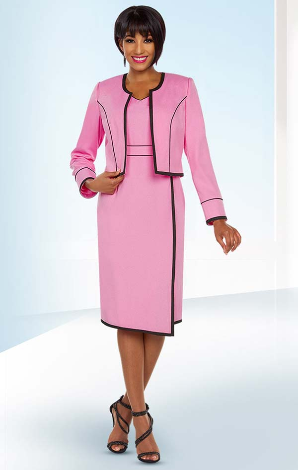 Ben Marc Executive 11778 Stripe Design Dress Suit With Bolero Style Jacket