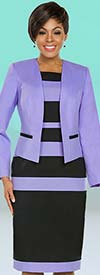 Ben Marc Executive 11782 Career Dress Suit With Multi Stripe Design