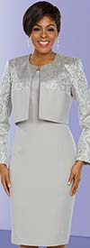 Ben Marc Executive 11789 Dress Set With Brocade Style Jacket