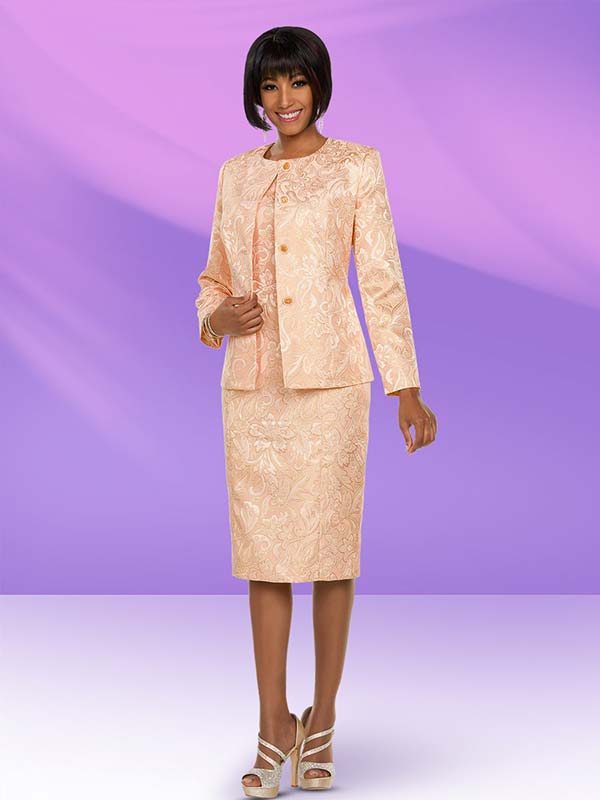 Ben Marc Executive 11791 Dress Set With Brocade Style Design