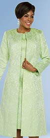 Ben Marc Executive 11792 Dress Set With Long Jacket In Brocade Style Design