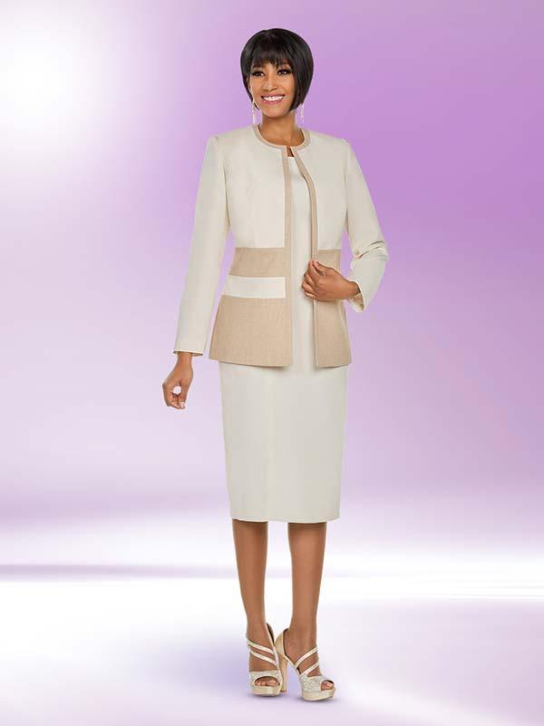 Ben Marc Executive 11795 Dual Tone Dress Suit With Jewel Neckline