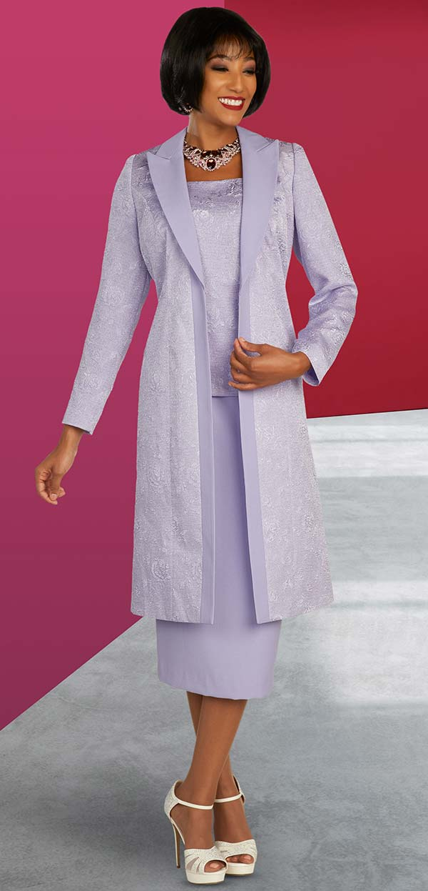 Ben Marc Executive 11851 - Peak Lapel Duster Style Jacket And Skirt Suit