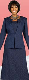 Ben Marc Executive 11852 - Womens Skirt Suit With Subtle Floral Pattern Detail