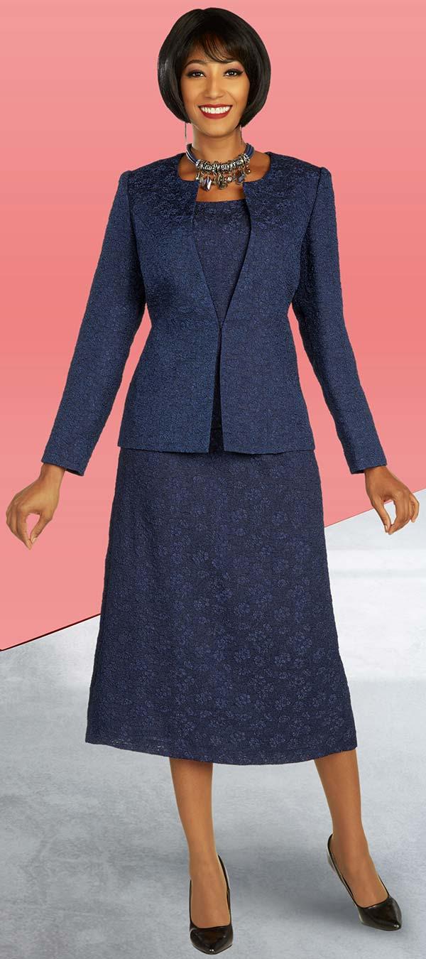 Ben Marc Executive 11852 - Womens Skirt Suit With Subtle Floral Pattern Detail