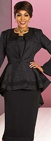 Ben Marc Executive 11853 - Womens Skirt Suit With Bell Cuff Sleeve Peplum Jacket